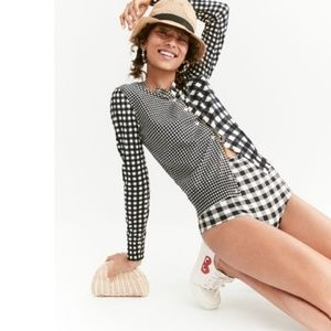 J. Crew Cotton Jackie cardigan in gingham